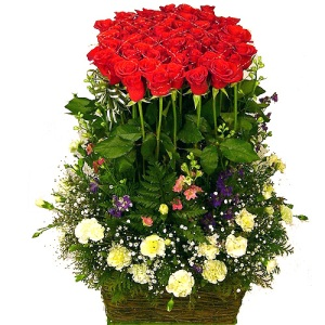 Keranjang Bunga Mawar